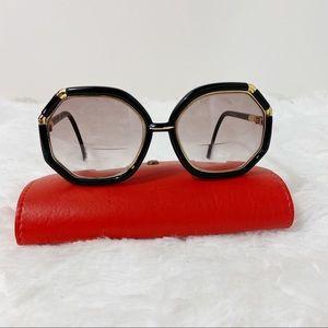Ted Lapidus Vintage 70s Oversized Black Sunglasses